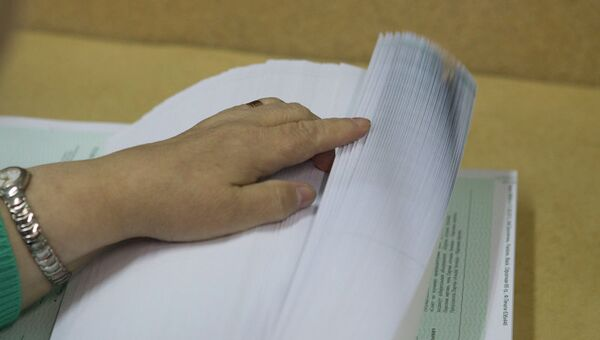 Бюллетени к выборам мэра Томска, архивное фото