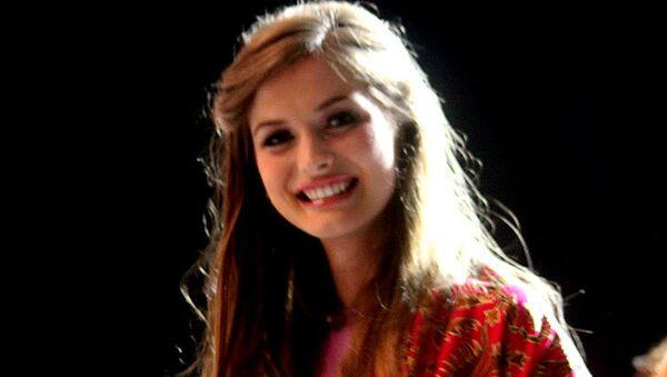 Участница конкурса Мисс мира 2013 от Украины Анна Заячковская, фото с места событий