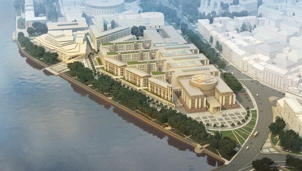 Архитектурная концепция зданий Верховного и Высшего арбитражного судов РФ