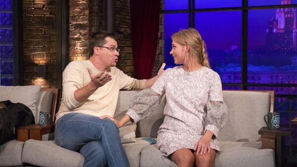 На прошлой неделе в шоу Вечерний Ургант пришли Кристина Асмус и Гарик Харламов. Рейтинг у молодежи был огромный