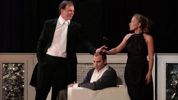 Сцена из спектакля Гедда Габлер