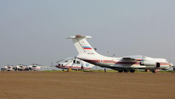 Самолет и вертолеты МЧС РФ