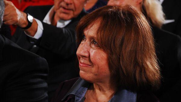 Светлана Алексиевич на церемонии награждения Премии мира Союза немецких книготорговцев, фото с места событий