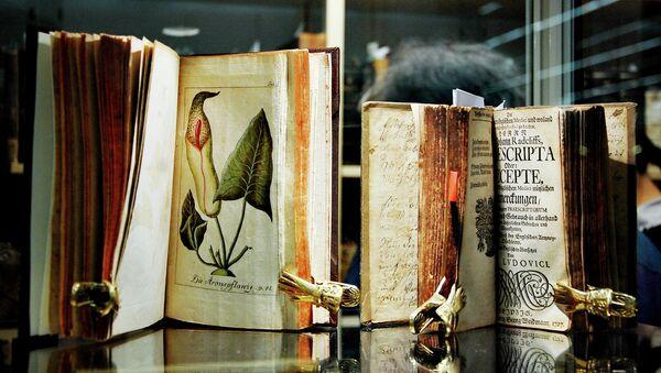 Книги на Франкфуртской книжной ярмарке. Архивное фото