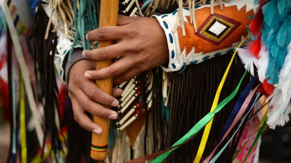 Индейские музыканты из Эквадора в Великом Новгороде