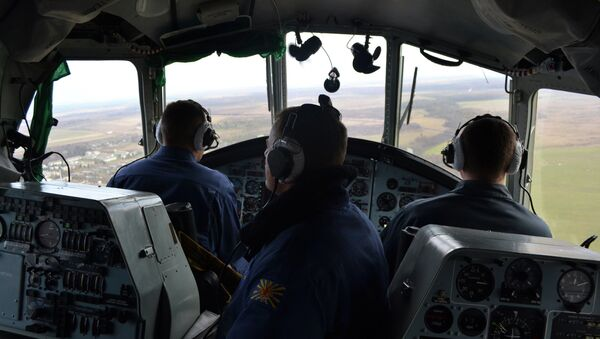 Кабина вертолета Ми-8, архивное фото