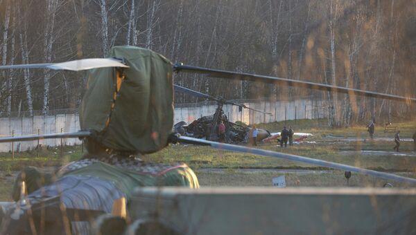 Вертолет Ка-52 упал в районе Выхино-Жулебино на юго-востоке Москвы