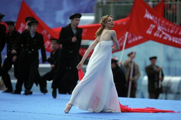 Балерина Илзе Лиепа во время празднования Дня города на Красной площади в Москве