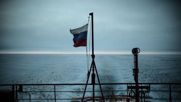Атомный ледокол 50 лет Победы в Северном Ледовитом океане. Архивное фото