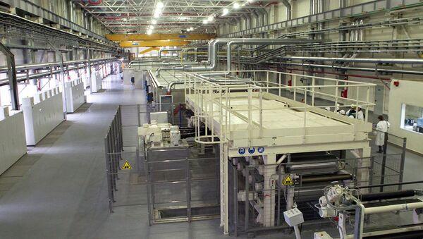 Цех завода по производству полипропиленовой пленки. Архивное фото