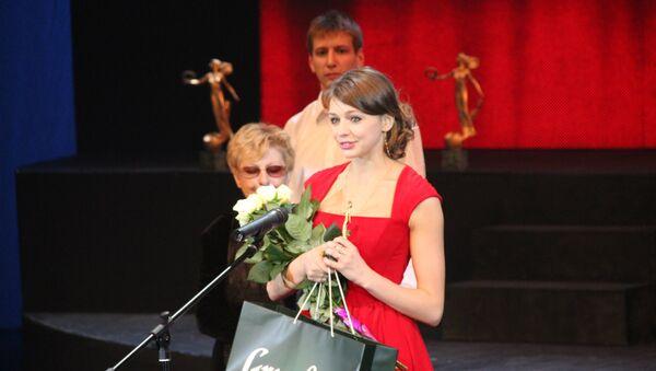 Оксана Бондарева на церемонии вручения театральной премии Золотой софит