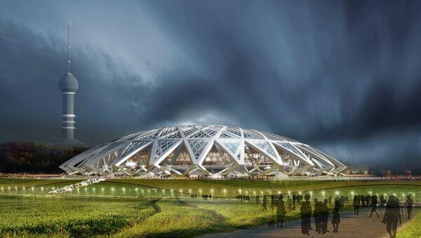 Эскиз стадиона к ЧМ-2018 в Самаре. Архивное фото