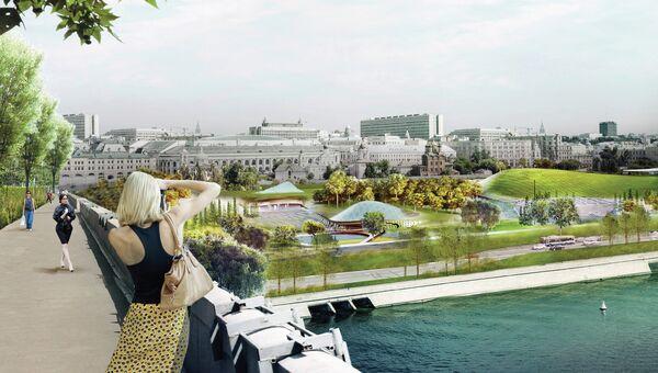 Проект победителя конкурса на разработку концепции парка Зарядье. Архивное фото