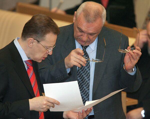 Андрей Логинов и Сергей Решульский на заседании ГД РФ