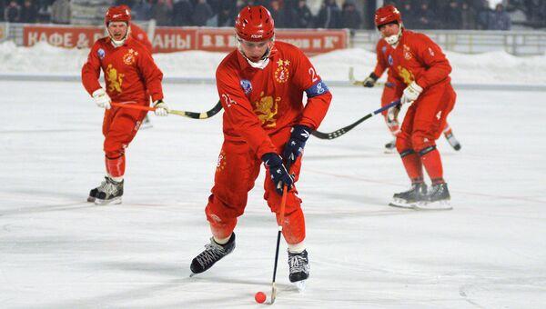 Хоккейный матч Енисей - Кузбасс, архивное фото
