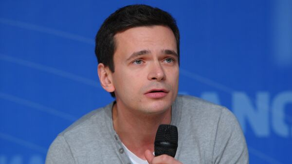Илья Яшин, один из лидеров движения Солидарность. Архивное фото