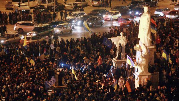 В Киеве продолжаются народные волнения. Фото с места события