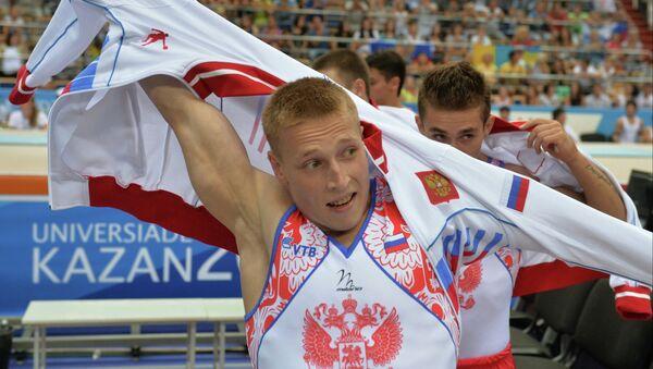 Денис Аблязин. Спортивная гимнастика. Архивное фото