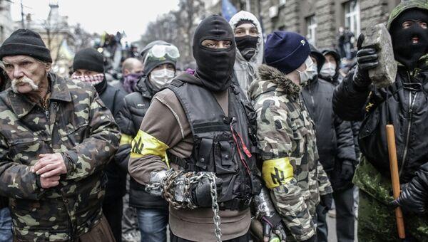 Акция сторонников евроинтеграции Украины