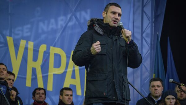 Лидер партии УДАР, боксер Виталий Кличко, архивное фото