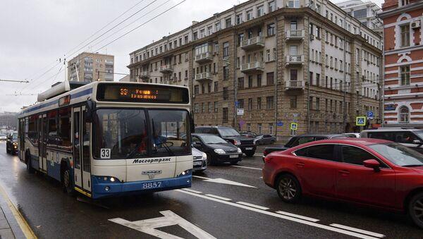 Выделенная полоса в центре Москвы. Архивное фото