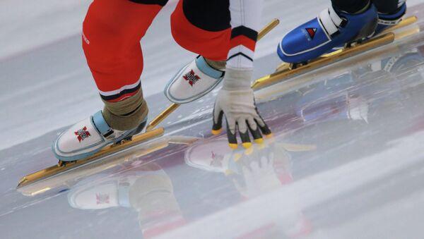 Конькобежный спорт. Архивное фото.