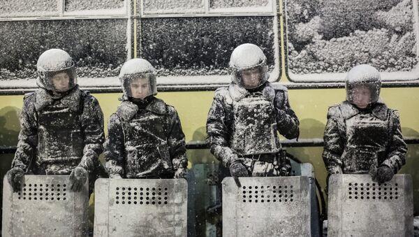 Сотрудники украинской милиции, архивное фото