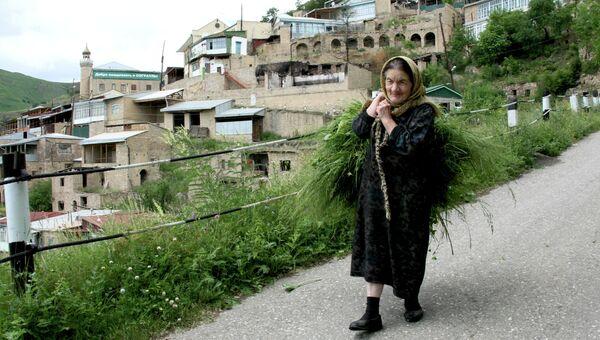 Жительница села Согратль Гунибского района Республики Дагестан