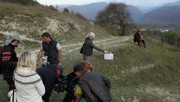 Съемки фильма Хусейна Эркенова Пепел в Чечне