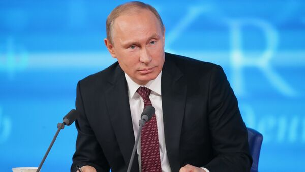 Большая пресс-конференция Владимира Путина, фото с места события