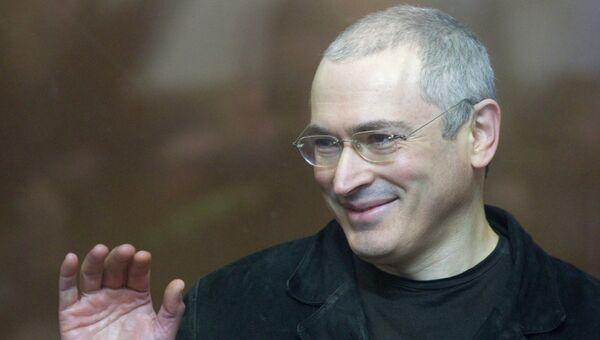 Экс-глава ЮКОСа Михаил Ходорковский в Хамовническом суде Москвы