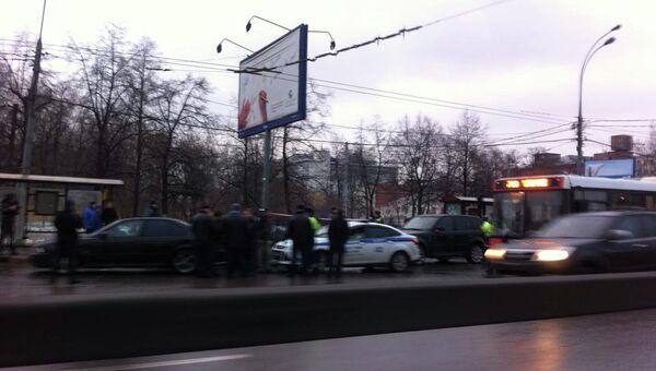 Задержанный в Москве стреляющий кортеж, фото с места события