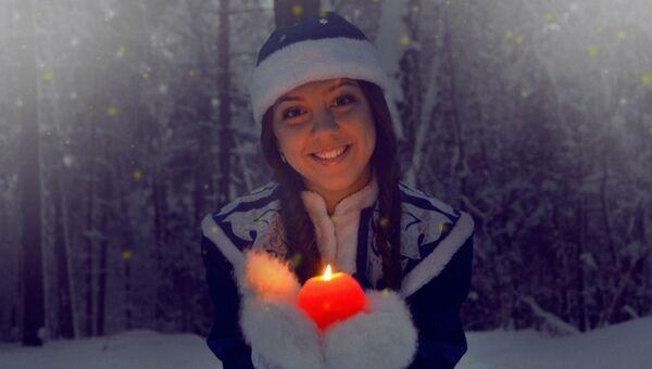Ксения Мороз, профессиональная Снегурочка