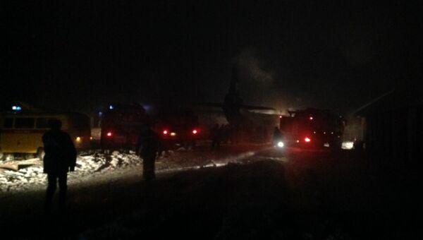 На месте падения самолета АН-12 в Иркутской области