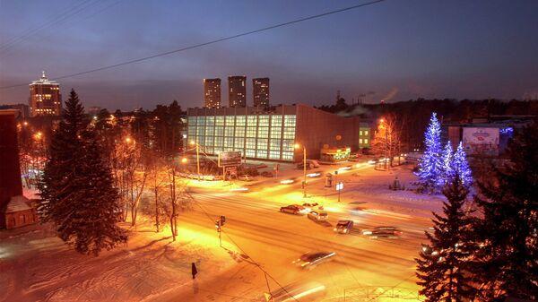 Новогодняя иллюминация в Новосибирске