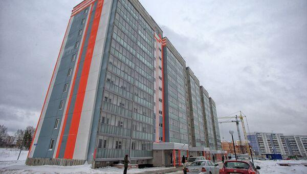 Дом по адресу ул. Обручева 16а для расселения жителей из аварийного жилья в Томске. Архивное фото