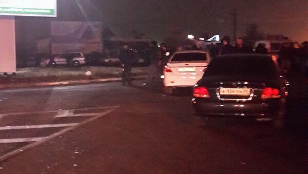 Взрыв автомобиля в Пятигорске, фото с места событий