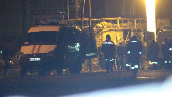 На месте взрыва в Пятигорске