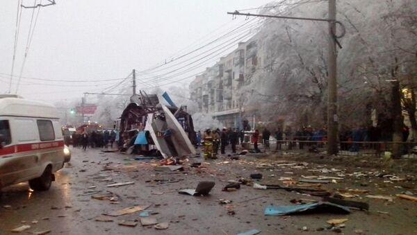 Взрыв в троллейбусе в Волгограде. Фото с места события