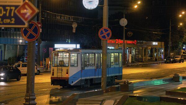 Московский трамвай. Архивное фото