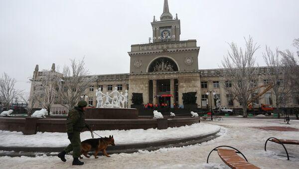 Железнодорожный вокзал Волгограда после теракта. Фото с места события
