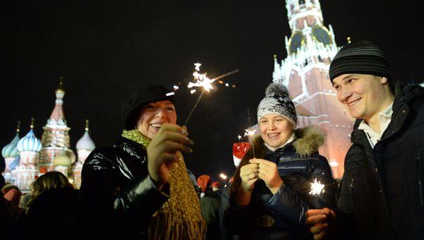 Празднование Нового года на Красной площади. Фото с места события
