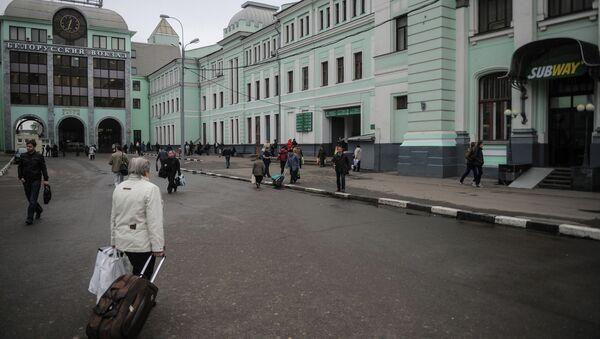 Белорусский вокзал в Москве. Архивное фото