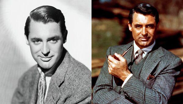 Англо-американский актёр Кэри Грант на фото 1930-х годов и 1950-х