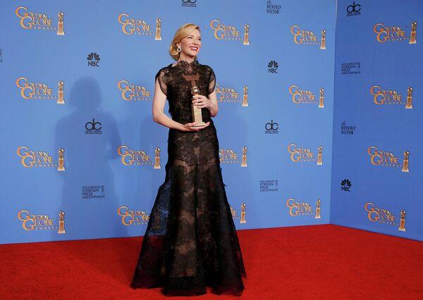 Австралийская актриса Кейт Бланшетт на премии Золотой глобус