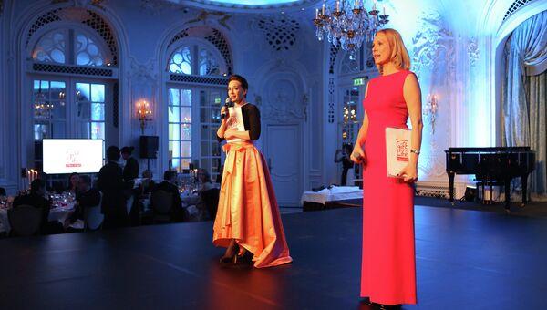 Чулпан Хаматова и Дина Корзун на благотворительном вечере и аукционе в пользу детей с онкогематологическими заболеваниями, организованном фондом Подари жизнь
