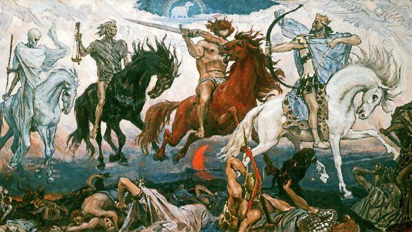 Репродукция картины Всадники Апокалипсиса