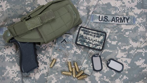 Форма и оружие солдата армии США. Архивное фото