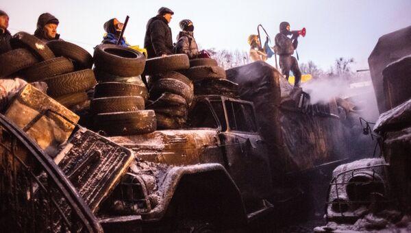 Ситуация в Киеве во время массовых протестов. Архивное фото