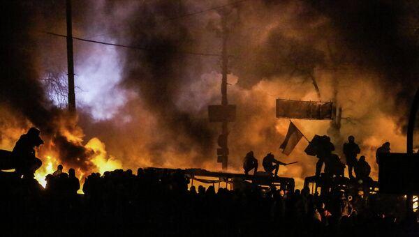 Столкновения протестующих с милицией в центре Киева. Фото с места события